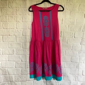 JELLY THE PUG SLEEVELESS DRESS SIZE L